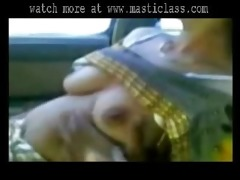 cute south indian aunty show her milky meatballs