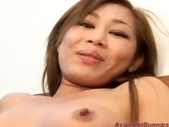 oriental sexy bunny receives deepthroat and anal