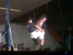 indian girl strip dance show in public