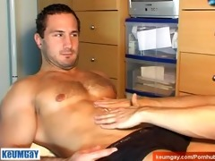 enzo, a real str hunk acquire wanked his heavy