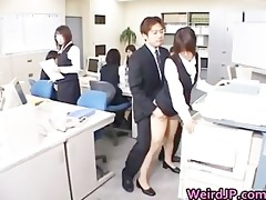 cute oriental secretary drilled part1