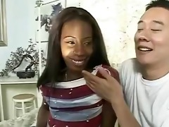 ambw lady armani interracial with oriental guy