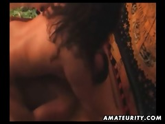 bulky dilettante asian wife sucks and copulates