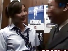 japanese schoolgirl gives favourable chap a oral