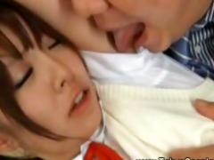 legal age teenager oriental in uniform acquires