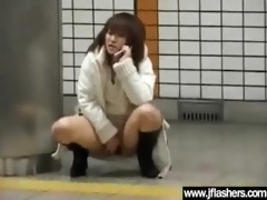 oriental disrobe outdoor in public and receive