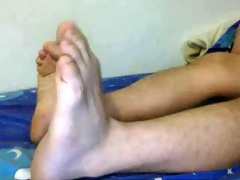 str guys feet on cam - chinese food!