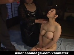 busty japanese playgirl in hawt wax bdsm act