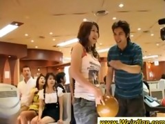 oriental women receives nasty at a party
