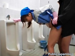 oriental maintenance lady cleans wrong part4