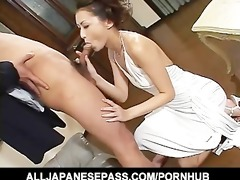 japanese dominatrix in white on her knees
