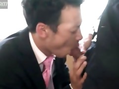 japanese business fellows - oral pleasure