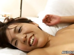 unshaved pussy riho asakura nailed with creampie