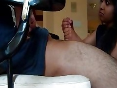 indian wife gives great cook jerking