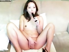 korean hotty with dark sex tool