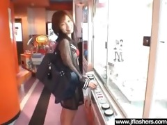 wench japanese disrobe in public and receive
