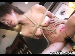 wild lesbo sadomasochism act with hot japanese