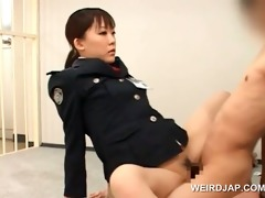 weird oriental sex with sexy police woman fucking
