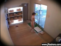 banging hardcore oriental flasher hot cutie in