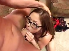 naturally breasty kianna drilled with glasses on!